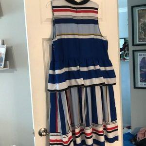 Eloquii Dresses - Eloquii Peplum Mix Print Dress